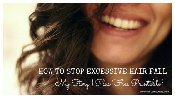How to control hair fall with free printable