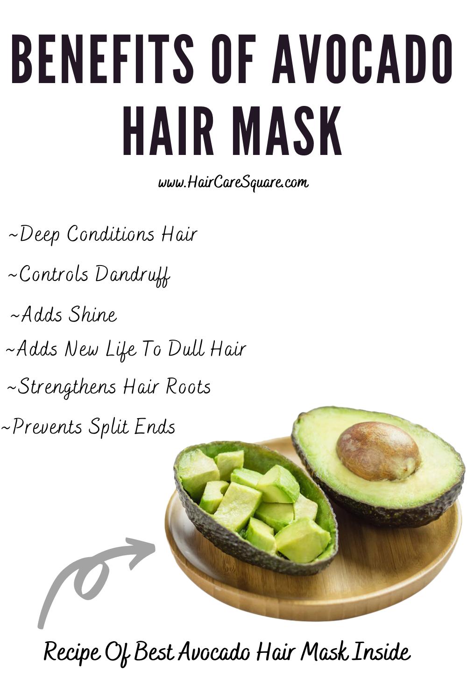 benefits of avocado hair mask